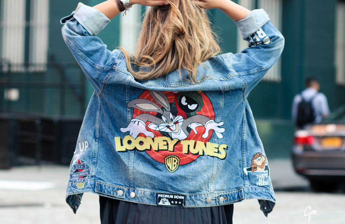 zara looney tunes denim jacket