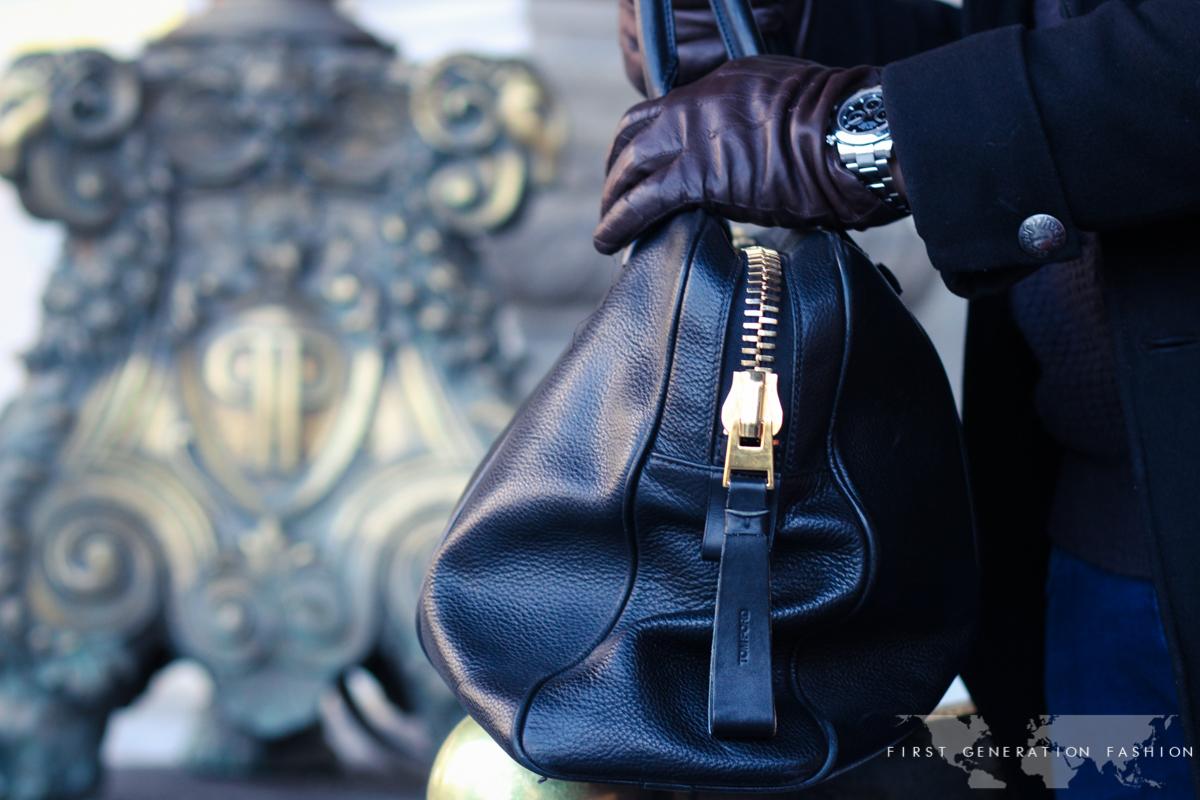 Tom Ford Black leather weekender